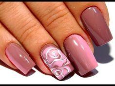 Дизайн ногтей гель лаком по мокрому цветок. Попробуй повтори этот простой и модный маникюр 2017 - YouTube