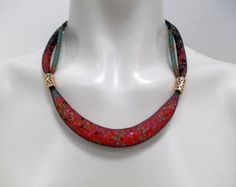 16800,- An Expressive Black Mesh Tube Necklace With Colorful Seed Beads. Mesh Wire Necklace. Art Mesh Jewerly. Made to Order