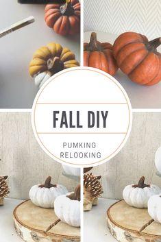 Fall decor, autumn diy, bricolage, citrouille transformé. DIY simple et rapide Diy Simple, Fall Diy, Decoration, Seasons, Fall, Bricolage, Decorating, Dekorasyon, Deko