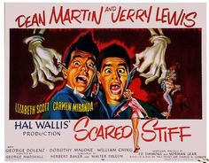 """For fans who speak English, the last film Carmen """"Scared Stiff"""". Scared Stiff is a 1953 American musical comedy film directed by George Marshall and starring. Jerry Lewis, Dean Martin, Halloween Comedy Movies, Holiday Movies, Medan, Jack Youtube, Norman Lear, Lizabeth Scott, Scared Stiff"""