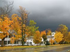 #Manchester, #Vermont on a cloudy day.