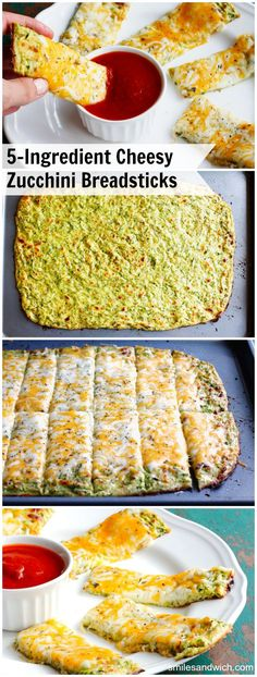 Cheesy Zucchini Breadsticks – a low-carb recipe with only 5 ingredients. Great f… Cheesy Zucchini Breadsticks – a low-carb recipe with only 5 ingredients. Great fresh zucchini recipe to use up your garden bounty! Veggie Dishes, Vegetable Recipes, Vegetarian Recipes, Side Dishes, Vegan Meals, Low Carb Recipes, Cooking Recipes, Healthy Recipes, Bariatric Recipes