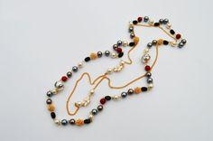 Colorful Pearl Fashion Bohemian Long Chain by EllaHandmadeUnuque