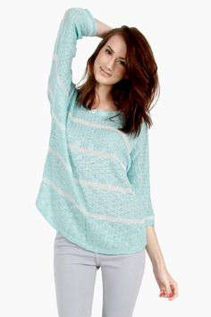 Sandy Stripe Sweater, $30.00 by TIFFANY BLOSSOM BOUTIQUE