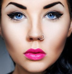 My favorite are her eyes and lips. Beautiful!
