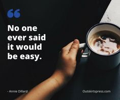 Here's Your Morning Coffee: No one ever said it would be easy.