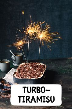 Turbo Turbo Tiramisu Tiramisu turbo quickly and easily prepared Christmas dessert New Year& Eve dessert feast food wintertime sweet food - Tiramisu For Two Opi, Tiramisu Cake, Sweet Recipes, Snack Recipes, New Years Eve Dessert, Köstliche Desserts, Food Humor, Ice Cream Recipes, Christmas Desserts