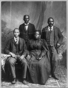 African American Group Portraits by Black History Album, via Flickr