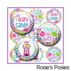 Candy Bottle Cap Image Sheet Bubblegum by RosiesLittlePosies
