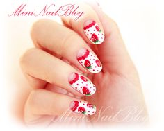 Strawberry Spring Nail Art
