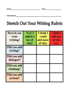 The Teacher Spot: Teacher Resources: FREEBIE! Rubric for Small Moment Writing