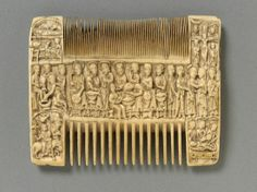 "A ""liturgical comb"" from the century, England. Liturgical combs were elaborately decorated with religious themes and apparently used to help a priest prepare for Mass. Victoria and Albert Museum. Roman Artifacts, Historical Artifacts, Ancient Artifacts, Medieval Life, Medieval Art, World History Facts, Victoria And Albert Museum, 12th Century, Dark Ages"