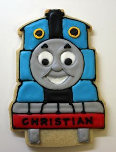 Train Decorated Cookies And cake pops on Pinterest | 66 Pins