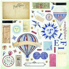 Farmhouse Paper Co - Fair Skies Dusk Chipboard Pack