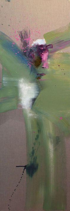 suk ja kang-engles, oil on canvas 60x20inches