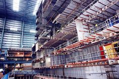 Quantum of the Seas Block in Hall 6 at Meyer Werft on October 11 2013.    Photo courtesy FERCHAU Engineering
