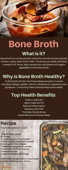 Learn How To Make Bone Broth and Why It's So Healthy For You Food Facts Gut Health Easy Recipe Wellness Tips Bone Broth Fast Recipe, Chicken Bone Broth Recipe, Lamb Bones Recipe, Bone Broth Crockpot, Bone Broth Diet Plan, Chicken Broth Recipes, Soup Recipes, Cooking Recipes, Cooking Bacon