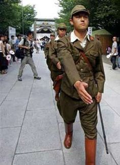 Japanese Imperial Army Ww2 | Today, young Japanese dressed in WWII army uniform (photo source: web)