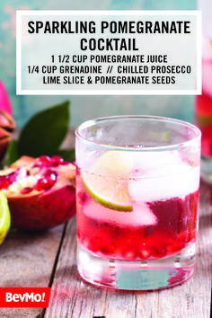 A Dash Of Freshness And Splash Fruity Flavor Make This Sparkling Pomegranate Tail The