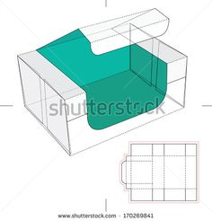 Blue Take one Box with Blueprint Layout