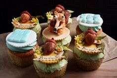 """Ice Age"" cupcakes frosted with Swiss meringue buttercream by kdjokova, via Flickr"