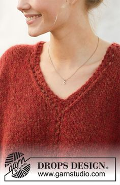 Ravelry: Robin Song pattern by DROPS design Drops Design, Robin, Finger Knitting, Free Knitting, Knitting Machine, Sweater Knitting Patterns, Knitting Designs, Lace Patterns, Crochet Free Patterns