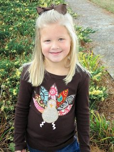 Adorable DIY Turkey Shirt for Thanksgiving!