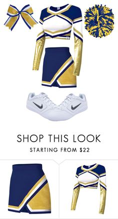 """Cheer Uniform #4"" by thisisvintage ❤ liked on Polyvore featuring moda, Chassè y NIKE"