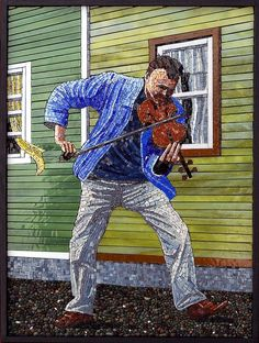 The Busker | Terry Nicholls - awesome mosaic!