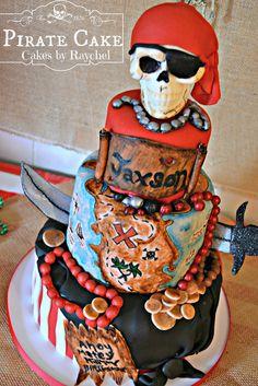 My Creative Way: Fondant Pirate Cake with Skull Cake Topper