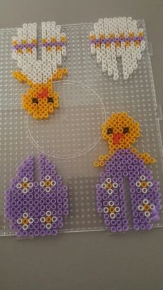 Hama beads easter egg chicken two different patterns