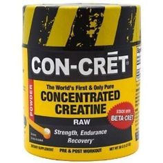 Con-Cret Creitine CON-CRĒT® is a pure, concentrated, creatine hydrochloride designed for serious athletes (both professional and amateur) and any fitness-oriented person who is looking to increase their conditioning level or gain a competitive advantage. SupplyBoys.Com