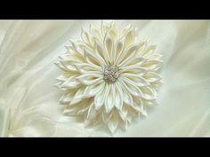 DIY Fabric flower- 1 full bloom - YouTube