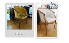 Elise's reupholstered desk chair