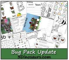 Free 40-page Bug Printable Preschool Pack