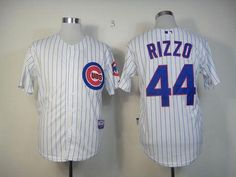 0ba79e5f5 Cubs  44 Anthony Rizzo White Cool Base Stitched MLB Jersey