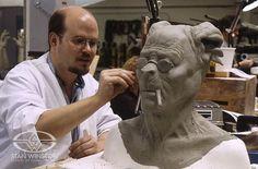 """Bruce Spaulding Fuller sculpts the mutant kangaroo man """"Deetee"""" for TANK GIRL."""