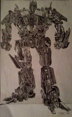 Optimus/Transformers/Graphite/Drawing