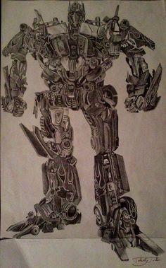 Optimus/Transformers/Graphite/Drawing