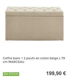 Coffre 2 poufs  #MaisonsDuMonde