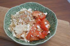 Salada de salmão fumado com requeijão