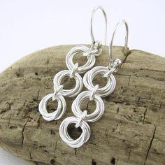Silver Drop Earrings Simple Silver Dangle от JenniferCasady