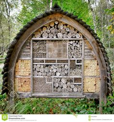 Bee And Insect Nesting Box Tree House Complex - Download From Over 38 Million High Quality Stock Photos, Images, Vectors. Sign up for FREE today. Image: 35122653