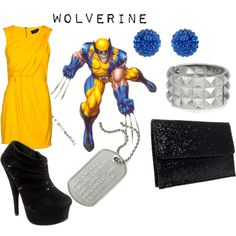 A fashion look from April 2012 featuring flare dresses, suede boots and man bag. Browse and shop related looks. Wolverine Costume, Forever New, Orange Dress, Costumes, Costume Ideas, Suede Boots, Flare Dress, Ankle Booties, Beautiful Outfits