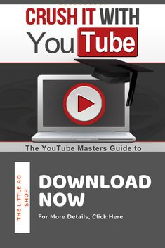Crushing It With YouTube Is Perfect for the Small Business Owner or Entrepreneur Looking to Take Their Marketing Campaigns To the Next Level. Get Your Free Copy Today! Youtube Advertising, Online Advertising, Online Marketing, Social Media Marketing, Digital Marketing, Business Video, Digital Strategy, Google Ads, Social Media Channels