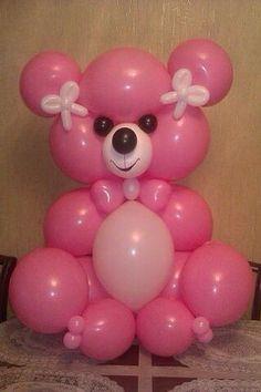 Источник интернет Balloon Centerpieces, Balloon Decorations, Baby Shower Decorations, Baloon Art, Twisting Balloons, Valentines Balloons, Balloon Crafts, Balloon Columns, Balloon Animals