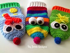 By Jenni Designs: Free Crochet Pattern: Little C's Silly Hand Puppets