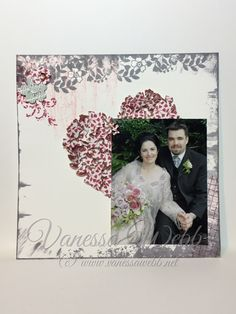 Bloomin' Hearts Thinlits Dies on a traditional scrapbook page PLUS Wink of Stella tips VIDEO - Vanessa Webb – Independent Stampin'Up! Demonstrator Australia