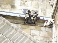 Across the street from the gargoyles at Westminster Abbey in London, some gargoyles with a more whimsical feel line the Houses of Parliament...