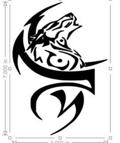 373a25a6e145b Wolf Vinyl Sticker Decal by EZclick on Etsy Tribal Tattoos, Native Tattoos,  Tribal Prints
